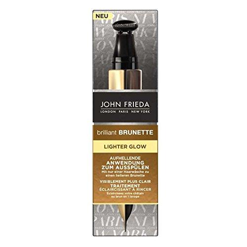 John Frieda Brilliant Brunette Lighter Glow Aufhellende Anwendung zum Ausspülen, 2er Pack (2 x 34 ml)