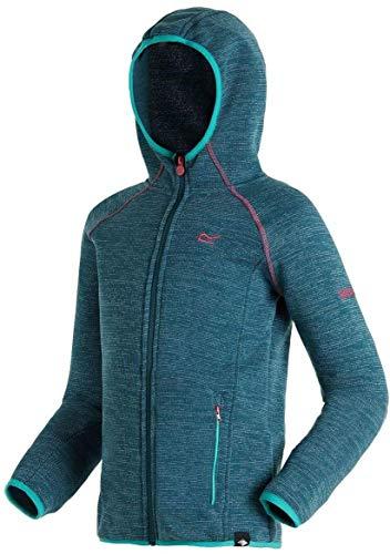 Regatta Dissolver Kinder-Fleecejacke mit Kapuze, Stretchmaterial, mit Reißverschluss auf der ganzen Länge XXXXX-Large Marokkoblau