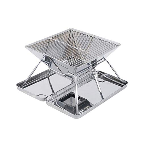 Affordable WSZZF311 Steel Folding Charcoal BBQ Grills Stainless 31X31X21cm Picnic Barbecue BBQ Roast...