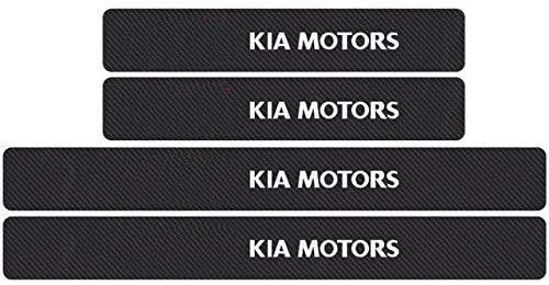 WanMei 4 Pcs Coche Fibra Carbono Protector Umbral Puerta para Kia Picanto Ceed Rio Sportage R K3 K4 K5, Pegatinas Cubierta Película Antipatada Accesorios