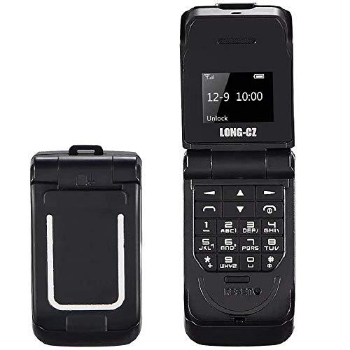Paddsun Unlocked Cellphone J9 Black World Mini Smallest Flip Mobile Phone Finger Size