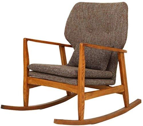 BeingHD Qualitätsbürostuhl, Bürostuhl mit Armlehne Schaukelstuhl Polsterschaukelstuhl Gemütlich Rocker Gepolsterte Sitzschaukelstuhl Büro und zu Hause Relax Chair