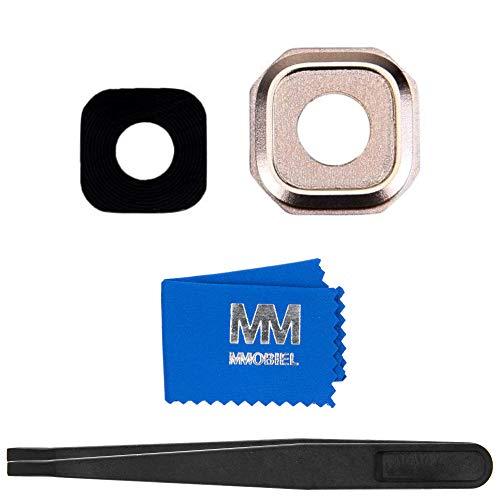 MMOBIEL Repuesto de Lente para cámara Trasera Compatible con Samsung Galaxy A3 / A5 / A7-2016 (Oro) Incl. Pinzas