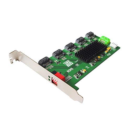 Kongnijiwa 5 Port SATA Konverter SATA II Port Multiplier Adapter Erweiterungskarte Unterstützung RAID 0/1/3/5/10