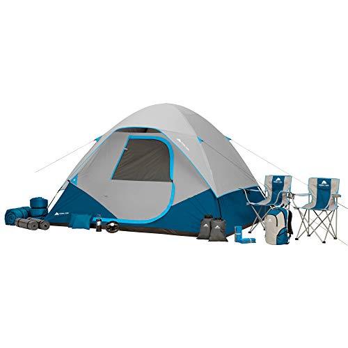 OZARK Trail Family Camping Tent (Sleep 6, Blue Combo)