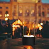 Einzigartiger Tischkamin | Feuertisch mit Deko Steinen und 2 Brennkammern (Tanks) für unendliche Brenndauer | Ethanol Kamin | Tischfeuer | Indoor Outdoor | Terrassenofen | Bioethanol | Balkon Zubehör - 3