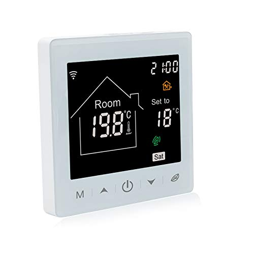 Beok Termostato de caldera de Gas inteligente controlador de temperatura Wifi programable...
