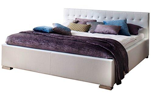sette notti Bett 160x200 Weiß, Kunstlederbett mit Liegefläche 160x200 cm, Art Nr.  279-10-40000