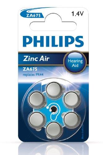 Philips ZA 675B 6A/10 675 Zinc-air, Hörgeräte Batterie, 6er Blister
