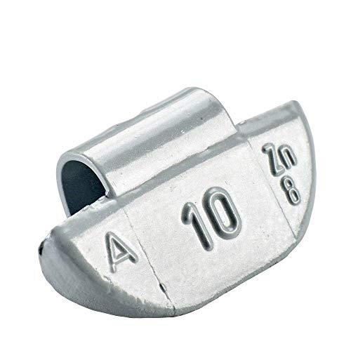 100x Poids marteau pour jantes en aluminium de type63 10g argentés | Poids marteau en aluminium poids d'équilibrage jante en aluminium | Poids d'équilibrage jantes en aluminium