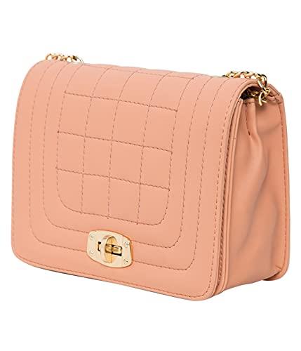 ADISA Women's Checkered Sling Bag (SL5063-PEA_Peach)