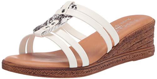 Tuscany Women's Wedge Sandal, White, 7 Narrow