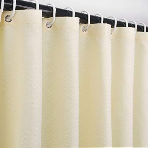 Ebecede Stoff Duschvorhang ohne Einsatz für Badezimmer, Stall & Badewanne, Waffelmuster 54W x 78L hellgelb