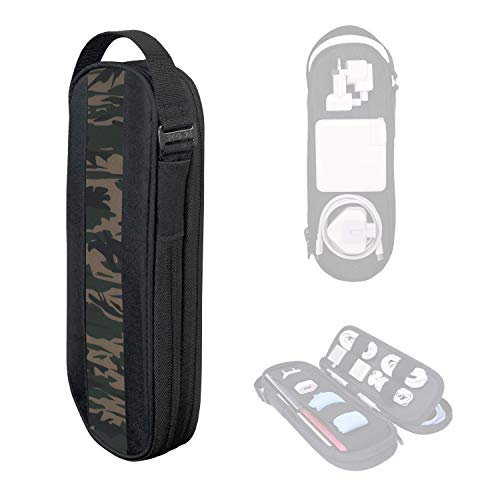 SIDE BY SIDE_POWER PACKER Travel Tech Pouch Organiser - Electronics & Cord Case - Cables & EDC Gear Bag (Camo)