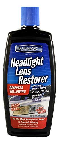 Headlight Restoration Kit, Blue Magic Headlight Lens Restorer, Premium Advanced Auto Headlamp Head Light Cleaner Restorer, Like New, Long Lasting Protection,