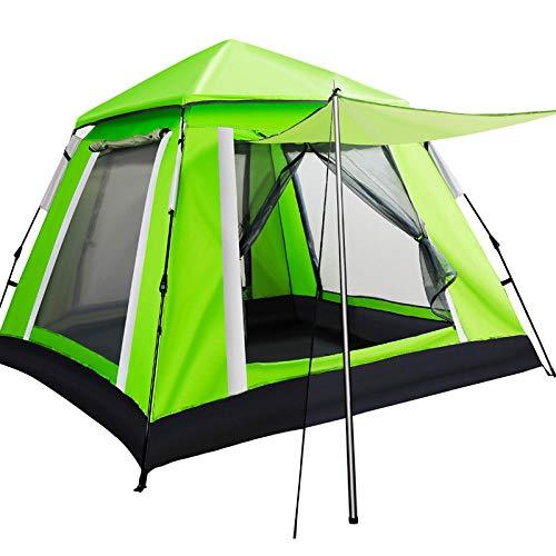 Heckzelt Campingzelt Auto Zelt Outdoor Vollautomatisches Zelt Für 3-4 Personen, 5 Personen, Doppeltür, Regenschutz Und Sonnencreme, Familienstrand-Campingausrüstung Im Freien Mit Foyer-Fluoreszierende