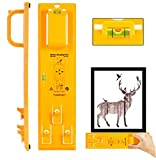 Picture Frame Hanging Kit, Looffy Multifunctional Picture Frame Hanger Tool Ruler with Level and Position...