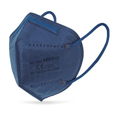 Mascarilla FFP3 AZUL NR Ultra Seguridad - 5 capas - con marcado CE y EN 149:2001 +A1:2009… (30)