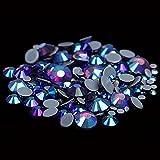 Hot Fix Piedras de diamantes de imitación y cristales Strass Adhesivo con pegamento en la parte posterior de hierro en gemas para ropa-42 amatista AB, SS6 1440PCS