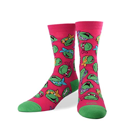 Cool Socks, Women's, Ninja Turtles, Turtle Games, Crew, Fun 80's 90's Dress
