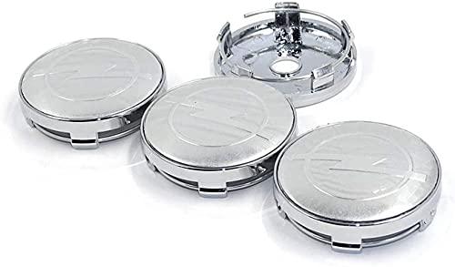 4 Piezas 60mm Coche Central De Llanta De Rueda Cubre para opel, Tapacubos ProteccióN Contra El óXido Styling Accesorios
