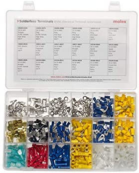 Molex 194130096 Solderless Terminals Kit HVAC Electrical Terminal Assortment 450 Pieces UL Listed product image