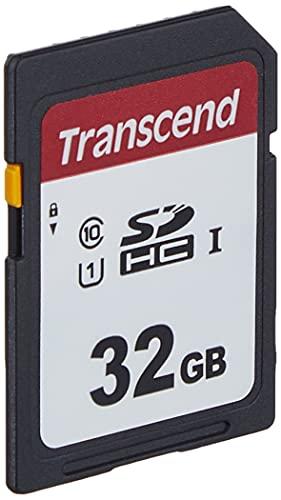Transcend Highspeed 32GB SDHC Speicherkarte (für Digitalkameras / Photo Box / alltägliche Aufnahmen & Videos / Autoradio) Class 10, UHS-I U1 TS32GSDC300S-E (umweltfreundliche Verpackung)