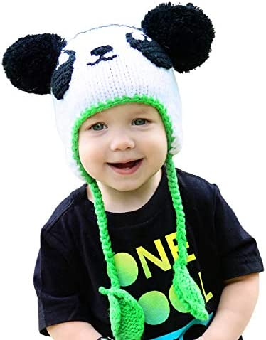 Huggalugs Baby and Toddler Childrens White Panda Bear Beanie Hat S product image