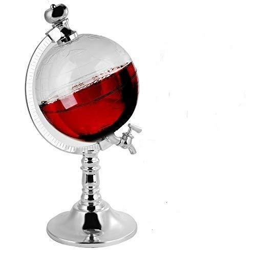 Wifehelper World Globe Distributore di liquori Birra Vino Bevande Conservazione Pompa per versare Barattoli Birra Bevande Liquore Versare alcol