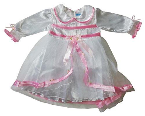 Seruna Tauf-Kleid Y20 Gr. 80/86 Baby-Kleider für Mädchen zur Taufe u. Hochzeit Geschenk-e für Babies