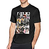 MUXIDISA Finn Wolfhard Tshirt Sweatshirt 3D Printing Mens Pop Short for Men Adult Graphics Top Tees Xx-Large Black