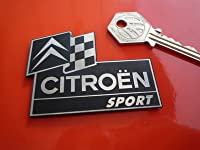 Citroen Sport Laser Cut Self Adhesive Car Badge シトロエン バッジ バッチ 海外限定 65mm × 48mm