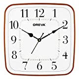 Oreva 12 Inches Wall Clock for Home Brown Wood Color (Ajanta Mfg pvt ltd) Sweep Movement