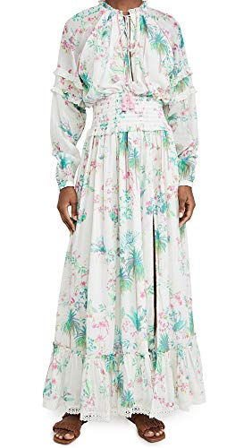 Hemant and Nandita Women's Long Dress, Multicolor, Small