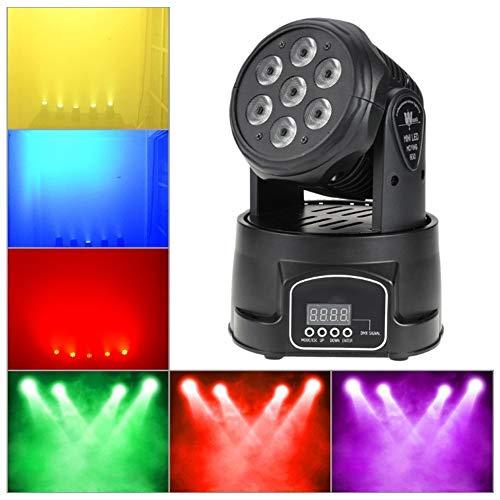 YYZLG 7 LED Mini Luces par Luces de teñido Etapa Cabeza móvil Luz de Velocidad Velocidad Barra de Luces Etapa DJ Luces