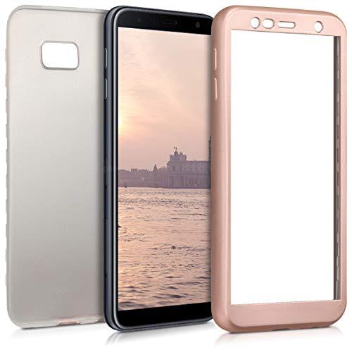 kwmobile Custodia Compatibile con Samsung Galaxy J4+ / J4 Plus DUOS - Cover Protettiva Fronte Retro TPU Silicone - Back Case Protezione Totale