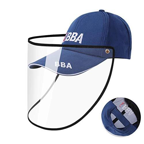 JIAYUAN Protective mask hat Baseballmütze mit abnehmbarem Schild, Gesichtsschutz Schutzkappe for Männer und Frauen Anti-Fog, Anti-Speichel, Anti-Spucken Hut Cover Outdoor Fischer Sonnenhut Eine Vielza