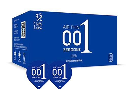 001 Condoom - IJsvuur Cover hyaluronzuur Condoom, De dunste Latex Condoom 2 Boxen (20 Packs) Blauw
