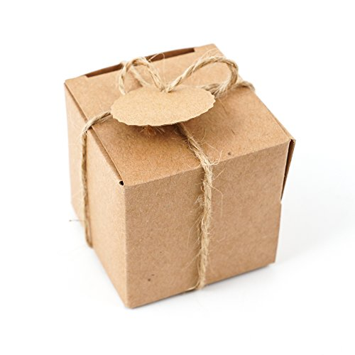 4.9*4.9*4.9cm AONER 100 Pcs Bo/îte /à Drag/ées Blanche Bonboni/ères Cube avec Coeur pour D/écoration de Mariage F/êtes Bapt/ême Naissance