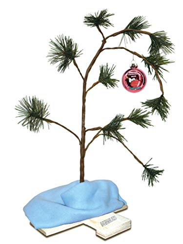 ProductWorks Exclusive 2018 24-Inch Charlie Brown Musical Christmas Tree with Linus's Blanket Holiday Décor