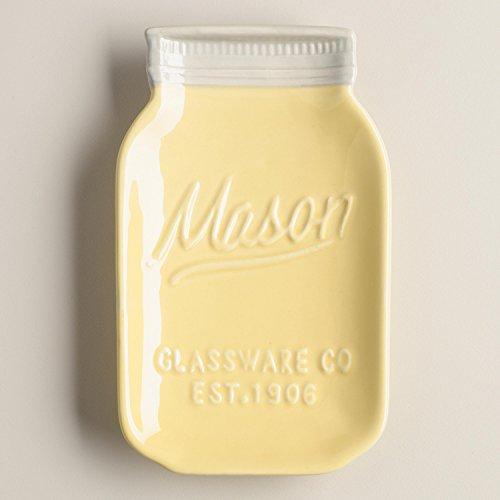 yellow ceramic jars - 6