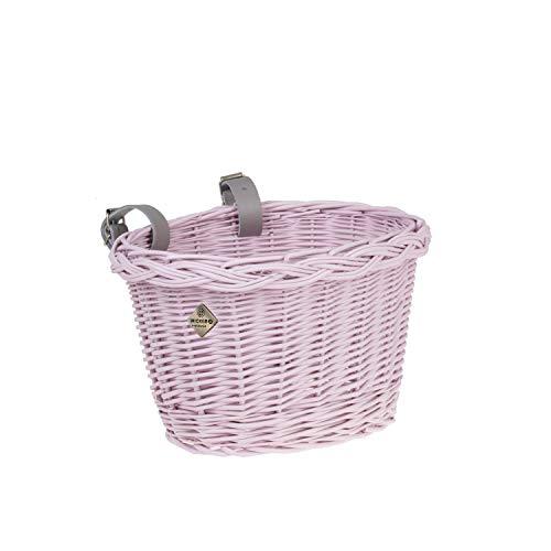 e-wicker24 Fahrradkorb für Kinder, Korb für Kinderfahrrad, Kleiner Fahrradkorb, Fahrradkorb aus Weide, rosa
