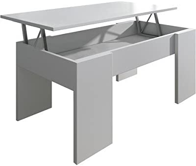 Habitdesign 0L1640A Mesa de Centro elevable, mesita de ...