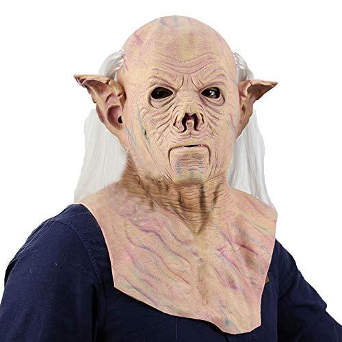 Halloween Costumn for feest/Latex Horror Maskers/Eng Head Mask Face For Adult/Alien Farao Masker Met Haar Halloween Party voor