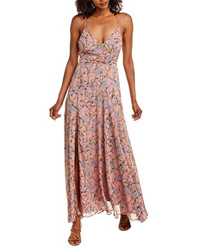ASTR the label Women's Pandora Sleeveless High-Slit Maxi Dress, Pink-Blue Floral, S