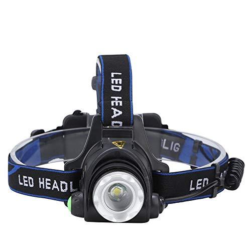 Rosvola Linterna Frontal LED Impermeable para Pesca, Faro de bajo Consumo de energía, Linterna Frontal 3,7 cm / 1,5 Pulgadas Ciclismo para Senderismo Correr