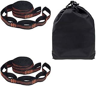 2 st/set hängmatta remmar specialförstärkta polyesterremmar 5 ringar hög bärande hulling svart utomhus hängmatta remmar
