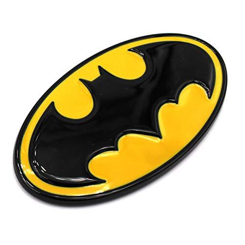 3D Emblem Batman Kunststoff mit Schaumstoff-Kleberückseite Badge von VmG-Store (Schwarz/Gelb)