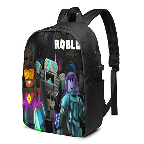 Ro-Bl-O-X Laptop Backpack School Bag with USB Charging Port for School College Student Travel Business Hiking