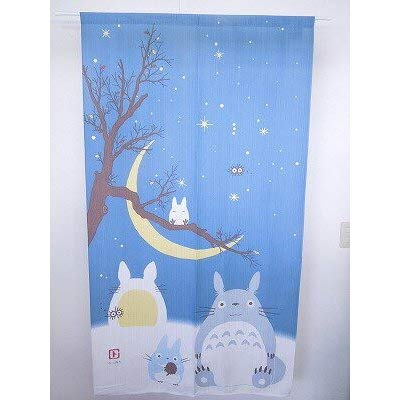 COSMOS Studio Ghibli My Neighbor Totoro Noren Cortina japonesa Totoro Winter Night Moon 85 x 150 cm 10406 Japón
